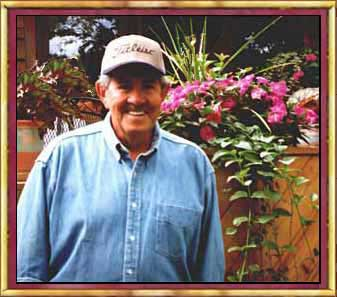 Arnie Garinger's picture in his garden