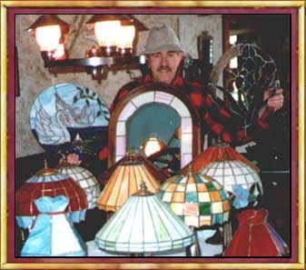 Picture of Arnie Garinger's Stained Glass works of art.