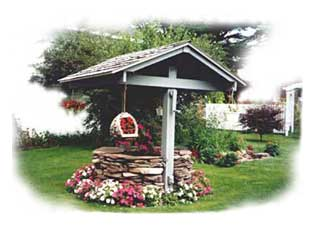 Picture of Arnie and Marge Garinger's wishing well.